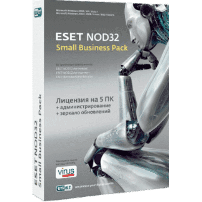 ESET NOD32 Small Business Pack 1 год 5 пк