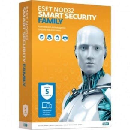 ESET NOD32 Smart Security Family 1 год на 3 устр