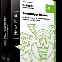 Антивирус Dr.Web — лицензия на 1 год на 2 ПК
