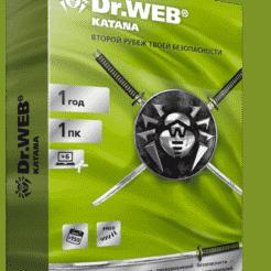 Dr.Web KATANA — лицензия на 1 год на 1 ПК