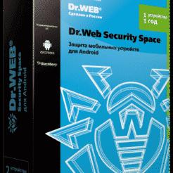 Dr.Web Security Space для Android — лицензия на 1 год на 1 устройств