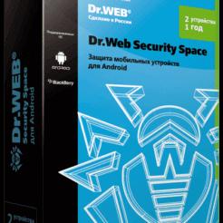 Dr.Web Security Space для Android — лицензия на 1 год на 2 устройств